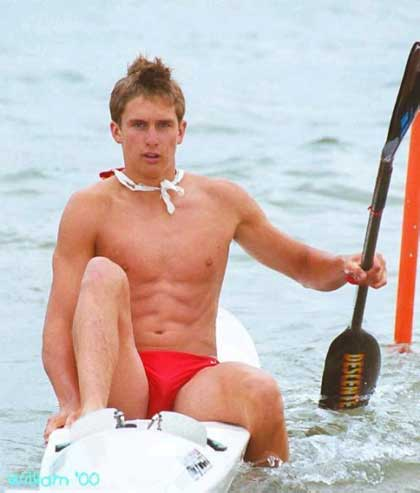 Red Speedo Lifeguard