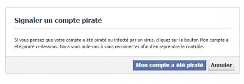Signaler un compte piraté