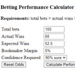 Betting Performance Calculator