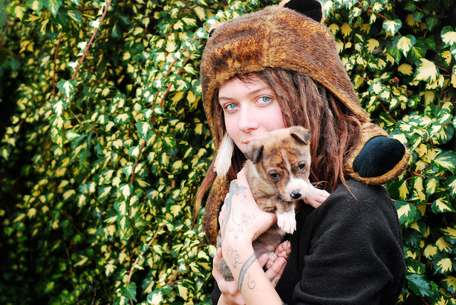 """My dog matches my hat!:"