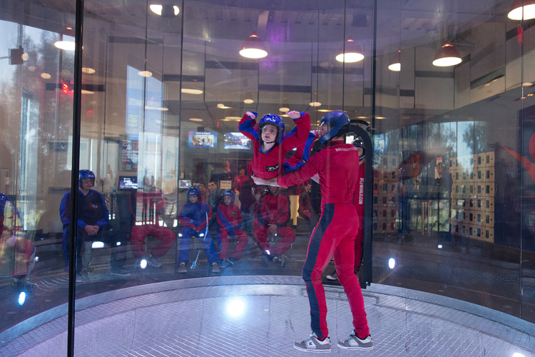 ifly austin atx skydiving indoor wind tunnel chamber flight suit