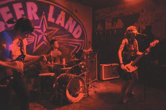 Crooked Bangs performing at Beerland. Photo courtesy of slugmag.com