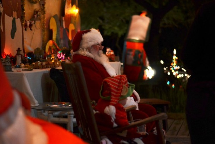 Santa is available to hear children's Chistmas wish lists. Photo: Shea Carley