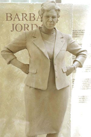 Barbara Jordan statue intended for the campus of the University of Texas, Austin Chronicle photo