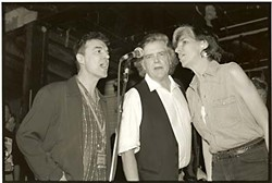 David Byrne, Clark, and Marcia Ball during the glory years of Liberty Lunch