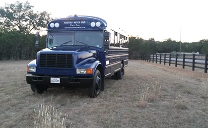 Austin Party Bus Outdoors