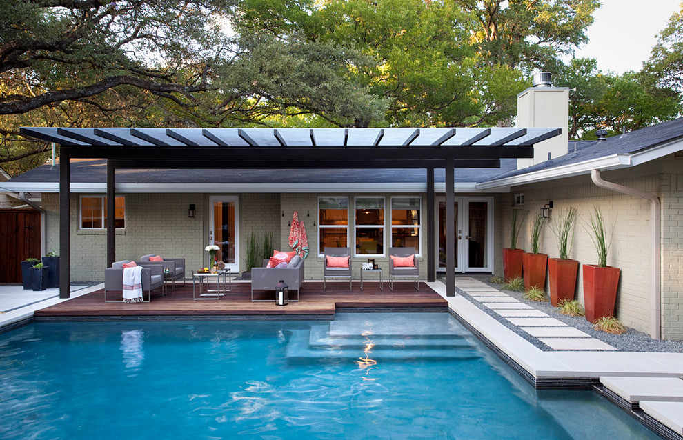 Prickly Pear - austin outdoor design on Modern Backyard Ideas With Pool id=53078