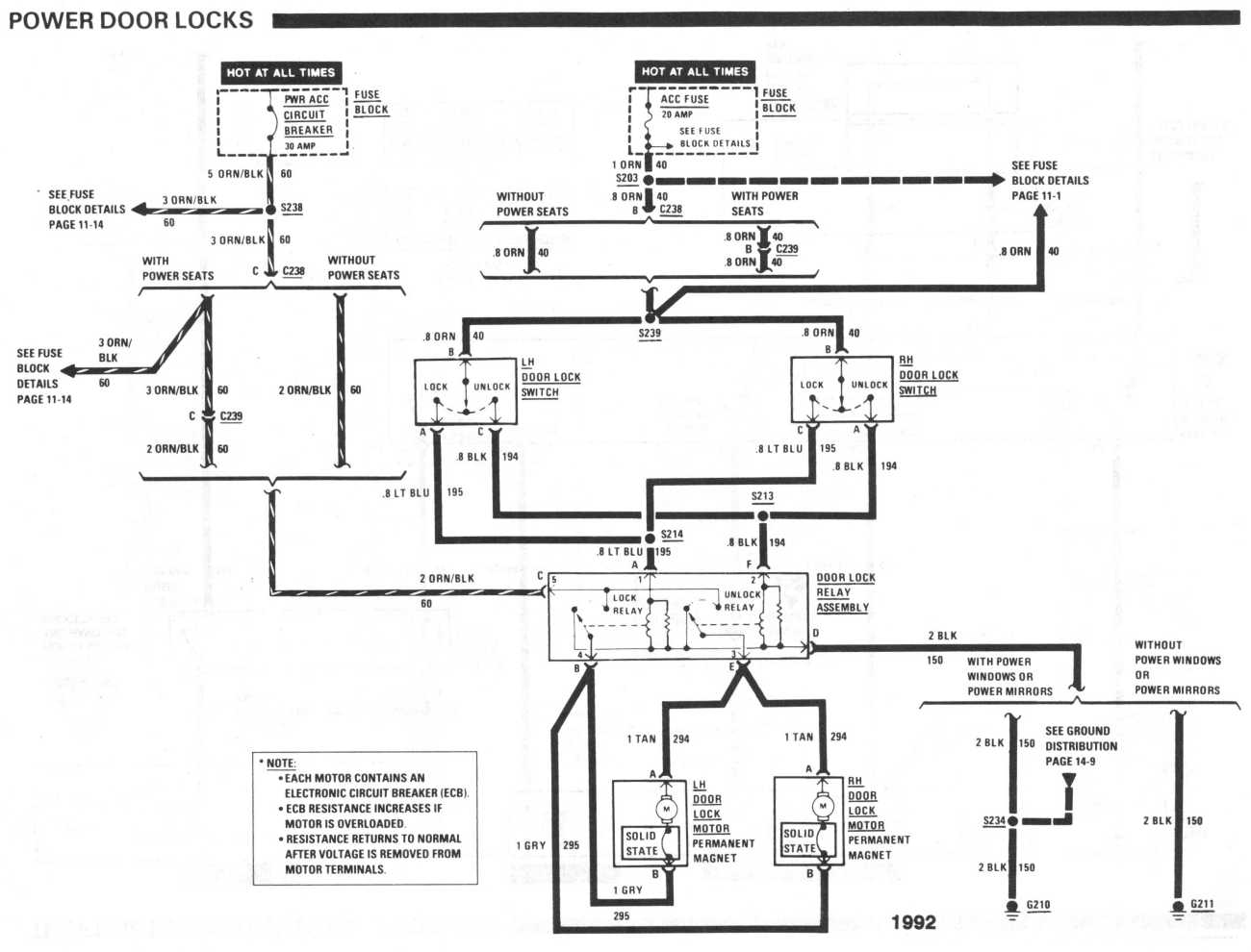 diagram_1992_power_door_locks Radio Wiring Diagram For Ford F on