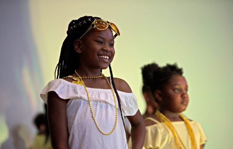 """On Friday, June 15, teacher Vanessa Renee hosted her annual Exclusive Spring Fashion Show inside of the auditorium of Ella Flag Young School, 1434 N. Parkside St. The show was designed to """"promote self-love, motivation, confidence and team-building,"""" Renee said. 
