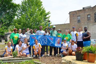 The Chicago leg of the Sri Chinmoy Oneness-Home Peace Run in Austin on July 12. | YATKARA ALEKSA-POLSKYV/Contributor