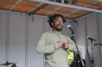 Frankiem Mitchell was among the local poets that performed at the event. | WENDELL HUTSONContributor