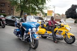 Riders from Ramrods Motorcycle Club ride their along the route last Saturday, during Congressman Danny Davis' annual Back 2 School parade on Central Avenue in Chicago's Austin neighborhood. | Photos by ALEXA ROGALS/Staff Photographer