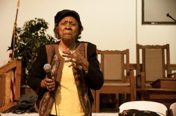 West Side resident during a meeting at St. Michael's. | SHANEL ROMAIN/Contributor