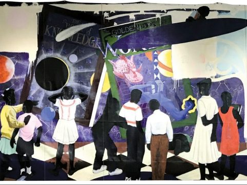 "SACRIFICE: Kerry James Marshall's ""Knowledge & Wonder,"" a painting that the famous black artist created for Legler Library on the West Side, could be sold at auction for up to 5 million. The proceeds would go toward improvements at the library. 