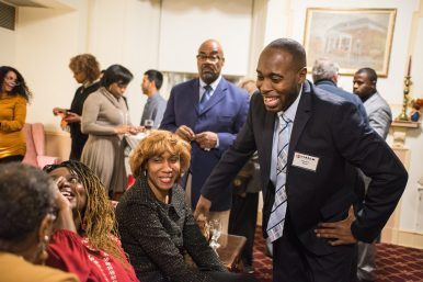 STILL BUILDING: Edward Redd mingles with guests during the YEMBA 10th year anniversary celebration at Nineteenth Century Club in Oak Park. | ALEXA ROGALS/Staff Photographer