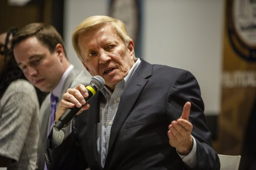Mayoral candidate Bob Fioretti answers a question on Saturday, Feb. 9, 2019, during the Chicago mayoral candidate forum at Malcolm X College in Chicago. The forum was put on by the Chicago Westside NAACP in partnership with Austin Coming Together. | ALEXA ROGALS/Staff Photographer