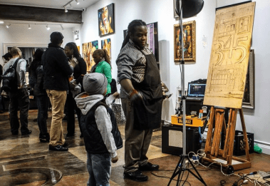 BUILDING COMMUNITY: Corry Williams, founded 345 Art Gallery in order to cultivate a homegrown artistic community on the West Side. | Photo courtesy 345 Art Gallery. | Photo courtesy 345 Art Gallery
