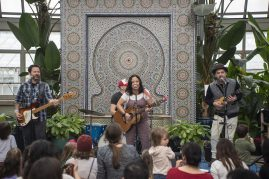 The Little Miss Ann Band performs on Saturday, March 2, during the Juicebox Concert series at the Garfield Park Conservatory. | ALEXA ROGALS/Staff Photographer