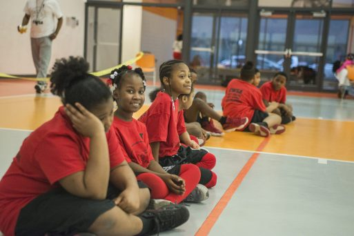 Participants take a break between events on Saturday, March 9, 2019, during the Community Works and Sports Alternative Youth Olympics event at the By The Hand Club For Kids in Austin. | ALEXA ROGALS/Staff Photographer