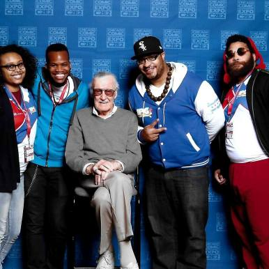 GAMING CONNECTIONS: Kevin Fair (pictured above to the right of the late comic book writer Stan Lee), has made a career out of his passion for video games. | KEVIN FAIR/Facebook