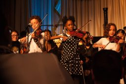 Children of the Chicago West Community Music Center perform at Saturday's gala. | SHANEL ROMAIN/Contributor