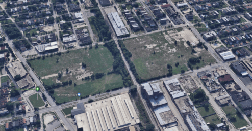 NOT FEASIBLE: An aerial view of the site at Roosevelt Road and Kostner in North Lawndale, which is one of five prospective sites for a Chicago casino. All of them are unfeasible, according to a recent study released by the Illinois Gaming Board. | Google Earth