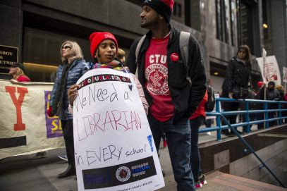 AGREEMENT REACHED: The Chicago Teachers Union suspended an 11-day strike on Halloween, ending a conflict that included demonstrations across the city. School resumed on Nov. 1. The 5-year contract includes an agreement by CPS to hire more nurses and librarians, among other concessions. | File photo