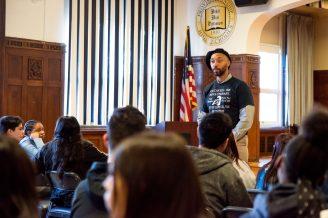 East history teacher George Bunn talks about Hampton's legacy. | SHANEL ROMAIN/Contributor