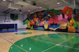 The new basketball court. | PASCAL SABINO/Contributor