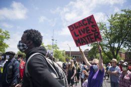 Around 300 protesters, most of them from Oak Park and a decent portion of them white, marched down Madison Street from the Oak Park/Chicago border all the way down to Garfield Park on June 13. | Alex Rogals/Staff Photographer