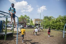 At a Juneteenth celebration held June 19, at the Youth Development Center, 5437 W. Division St., West Side leaders expressed support for making the annual commemoration an official holiday at the city and state level. | Alex Rogals/Staff Photographer