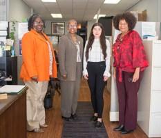 The full staff of the Austin office of the Housing Center includes Deborah Williams, program coordinator; Anita Bailey, housing counselor; Karen Barragan, secretary; and Wilane Boones, senior housing counselor.