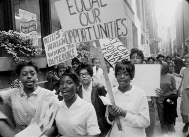 Then and now: Students and parents protested against CPS in an historic march on Oct. 22, 1963, which is the basis of an upcoming film.Photos courtesy Kartemquin Films