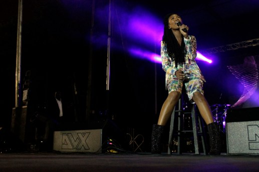 Singer/songwriter Brandy closes out the festival Monday evening with a crowd pleasing performance of her greatest hits and a couple Whitney Houston covers. (ASHLEY LISENBY/digital editor)