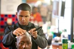 Negron concentrates on the head of Sam Davis. (David Pierini/staff photographer)