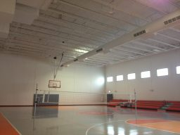 By the Hand Club's new, spacious basketball court can also be used for volleyball.
