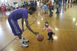 Ella Flagg Young School hosted a Community Peace Basketball Camp Nov. 23. (DAVID PIERINI/Staff Photographer)