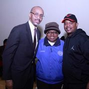 From left to right) Phillip Jackson, Founder of the Blackstar Project, Patricia Horton Former Commissioner of Water Reclamation District of Chicago and Darren Hammond, President and CEO of The Darren Group.