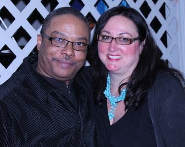 Special guest Reverend Walter Jones, member of West Side Bridge and West Side Men, with Dawn Ferencak.