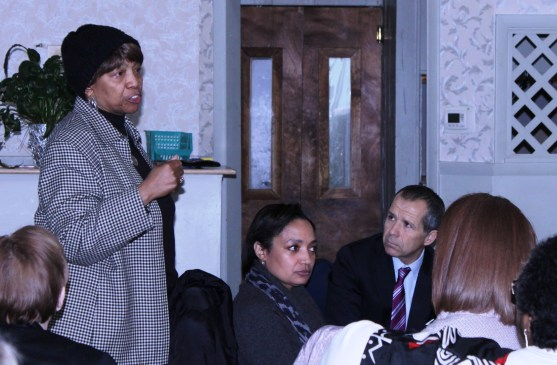 """Judge Marianne Jackson tells the group about the challenges faced by youth today and about her confidence that """"the solutions to these problems can be found in this room."""""""