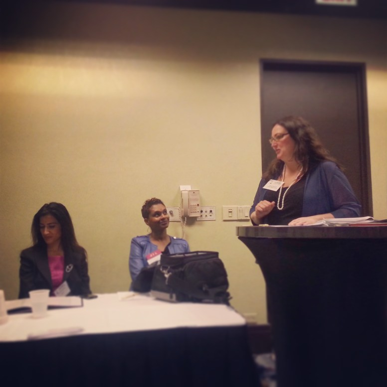 "Dawn Ferencak, Associate Publisher of Austin Weekly News, acted as moderator for a session titled ""The Power of She"""