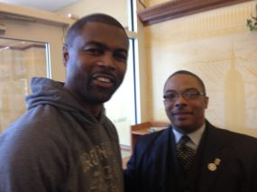 State Rep. LaShawn Ford with Reverend Jones of Fathers Who Care