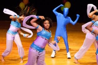 Amarcion Watson, center, dances Hip Hop fusion with a group of dancers. (David Pierini/staff photographer)