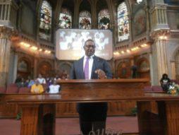 Commissioner Boykins speaks at New Mt. Pilgrim