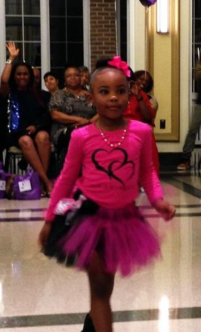 """Aspiring model and Austin resident La'Maya James, 6, is a natural on the runway due to """"practice, practice, practice."""" PHOTOS courtesy the James family."""