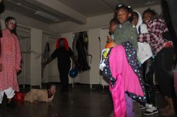 """Columbus Park's """"ghosts"""" and """"zombies"""" delivering some scares. (Photos by Daisy Winfrey)"""
