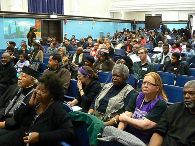 The North Lawndale Presidential Library Committee hosted a public forum Nov. 22, at Penn Elementary School, 1616 S. Avers, concerning their efforts to bring Obama's library and museum to their West Side community. PHOTOS by LaRisa Lynch