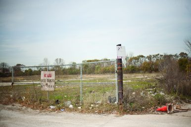 This vacant lot and finalist for the site of the Obama Presidential Library was once a controversal construction debris dump. (David Pierini/staff photographer)