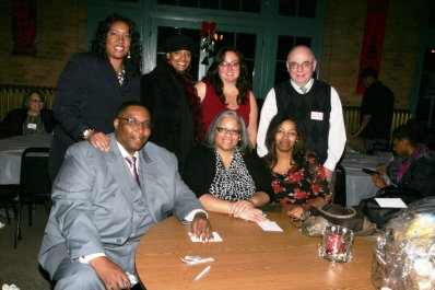 (bottom row) Alderman Jason Ervin, Alderman Deborah Graham, Princess Dempsey (top row) Alderman Ervin's wife Melissa, State Rep Camille Lilly, Sales Manager Dawn Ferencak, Publisher Dan Haley