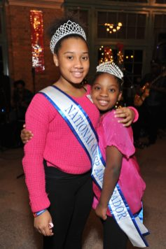 These girls got their sashes and tiaras because of their community service efforts